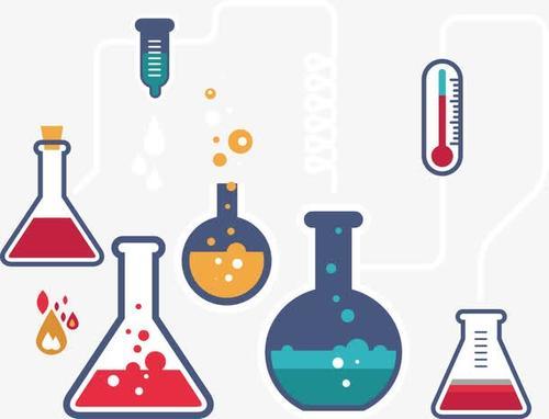 手绘化学实验瓶子图片