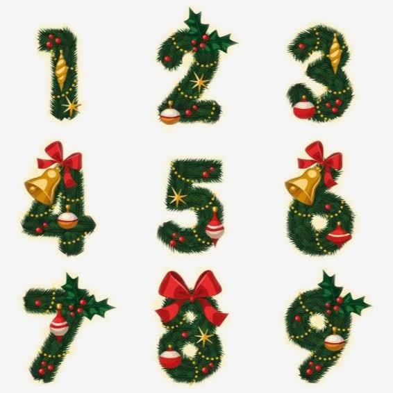 圣诞节装饰数字