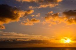 日落真实图片