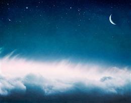 蓝色梦幻星空背景图片