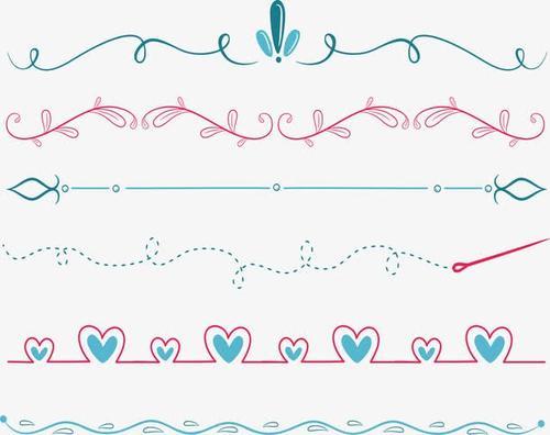手绘花边线条分割线图片