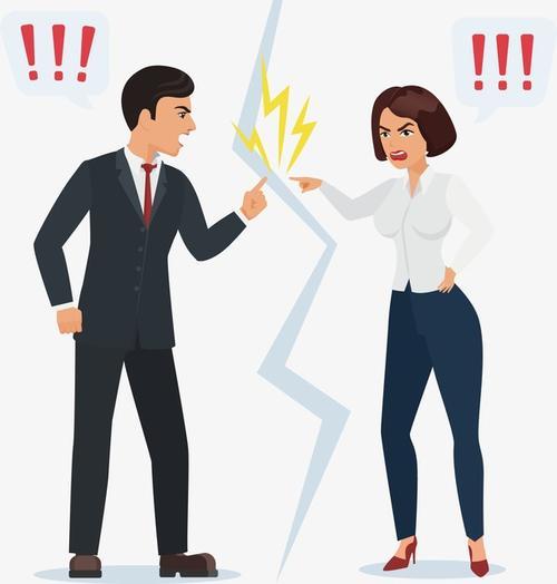 商务男女争吵图片
