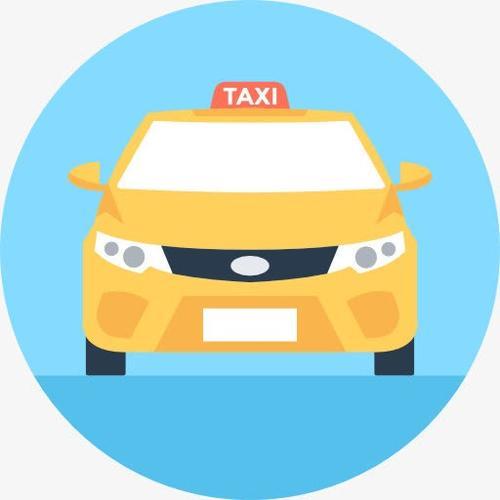 圆形卡通出租车图片