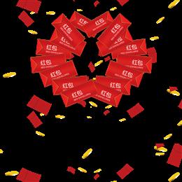 红包漂浮素材