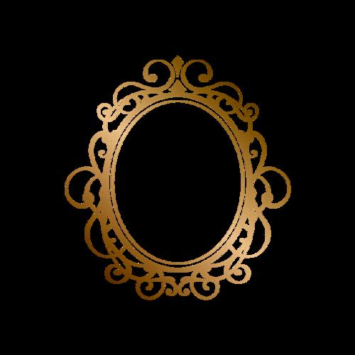 烫金圆形花纹边框