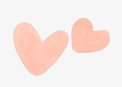 手绘矢量爱心元素