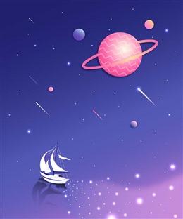 扁平化宇宙插画