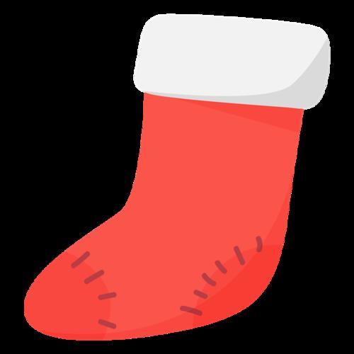 圣诞小袜子创意手绘元素