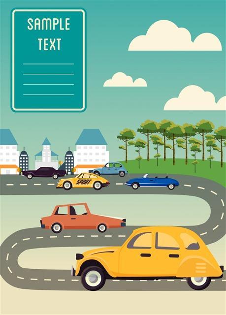 全国安全交通日插画