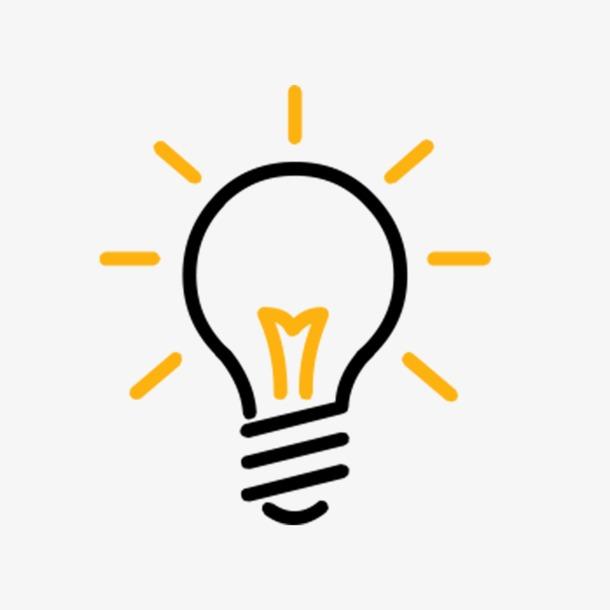 灯泡发光线性图标