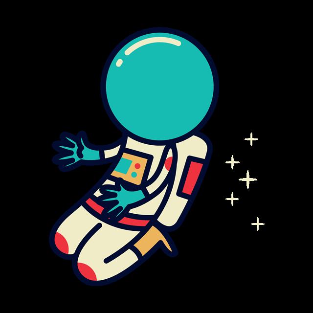 卡通手绘宇航员人物