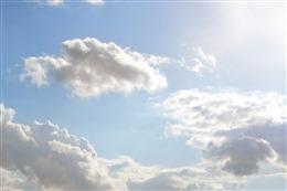 阳光蓝天真实图片