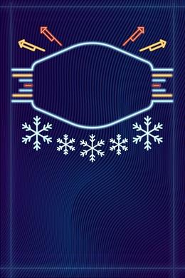 圣诞霓虹风电商海报背景