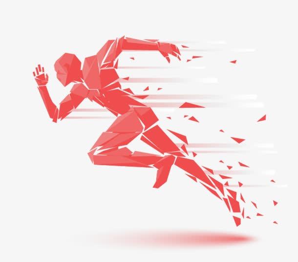 奔跑的人物剪影图片