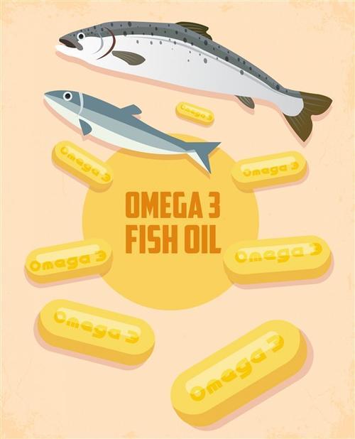 鱼肝油手绘海报