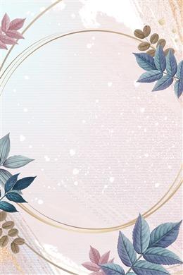 简约花卉文艺边框背景