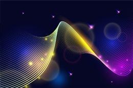 炫彩科技波浪光效背景图