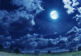 明月夜空背景