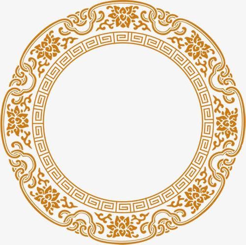 新年年会圆形花纹装饰图片