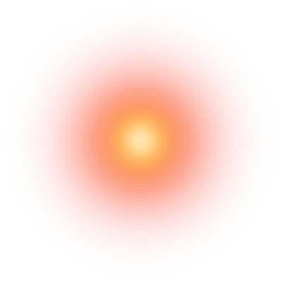橙色光晕特效元素