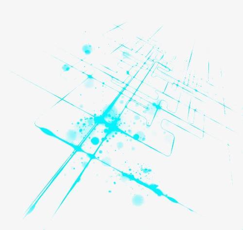 蓝色科技线条图片