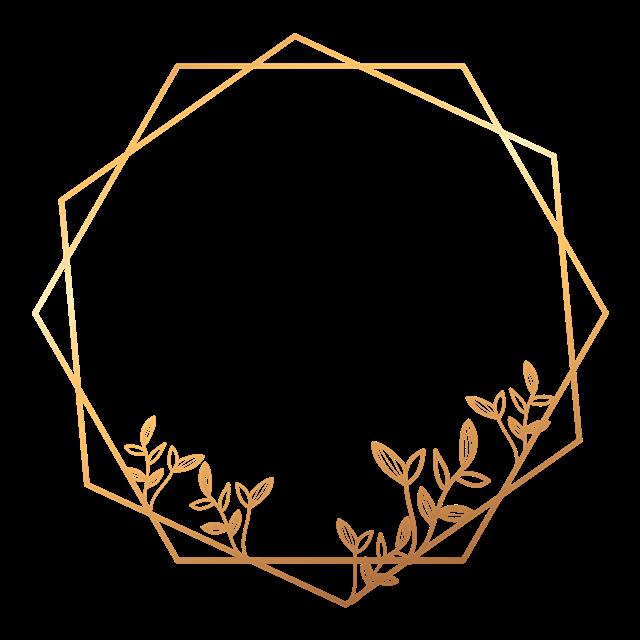 金色多边形花纹边框