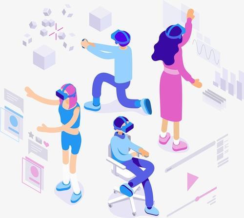 VR体验场景插画