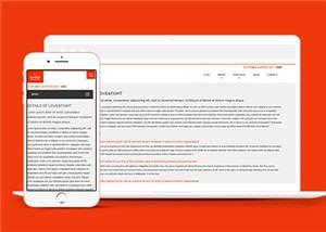 餐饮服务行业html5网站模板