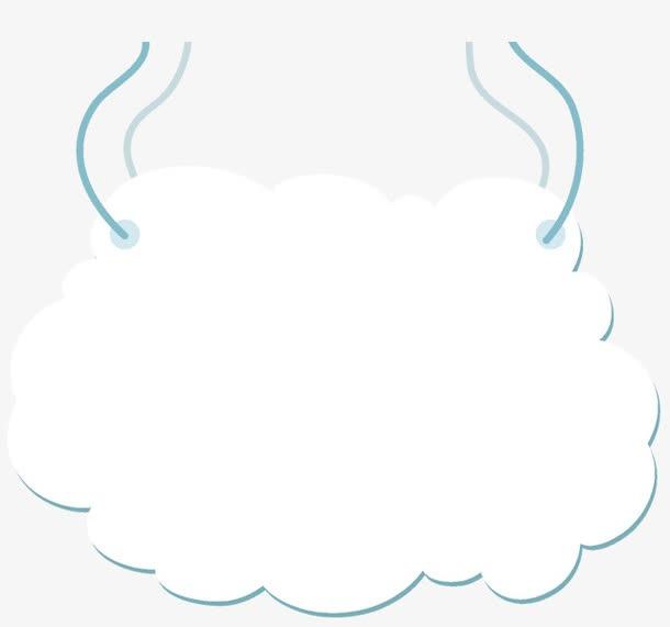 矢量云朵文本框
