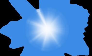 蓝色发光光效元素