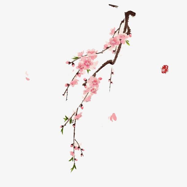 水彩梅花图片