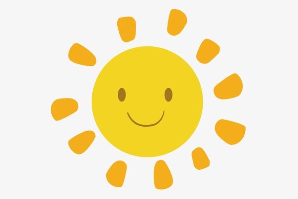 卡通微笑太阳图片