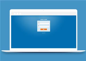 蓝色极简网站后台登录html模板