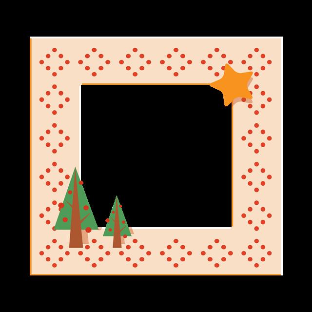 手绘圣诞树装饰边框