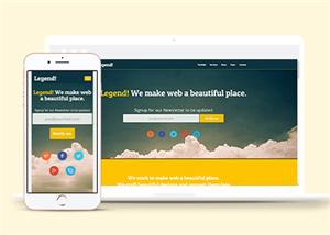 新闻资讯企业HTML5模板