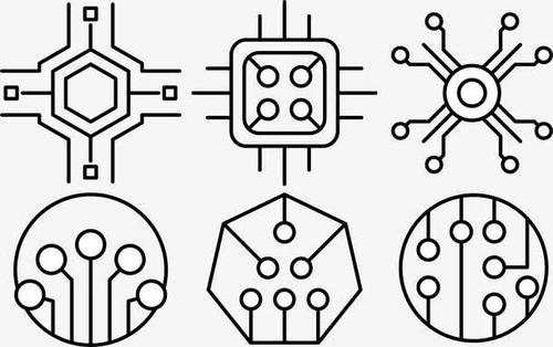 科技电子元件形状
