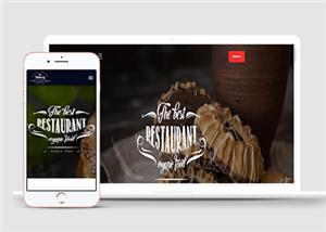 西式餐点餐饮HTML5响应式模板