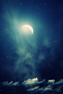 夜空月亮图片