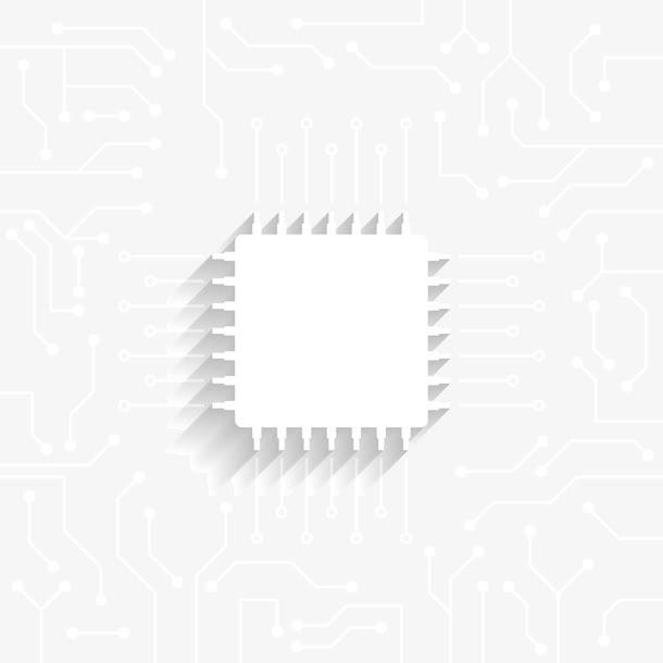 科技感电子芯片