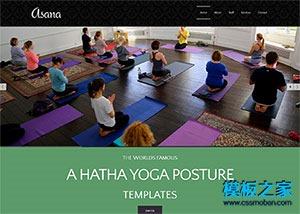瑜伽spa运动馆网站模板