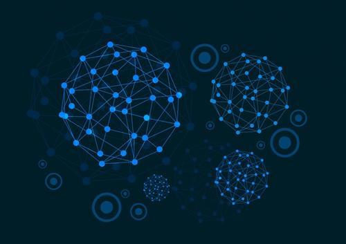 蓝色科技线条感圆圈