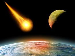 火星撞地球科幻背景