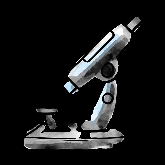 显微镜卡通插图