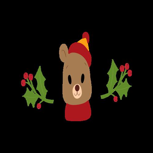 圣诞小熊节日元素