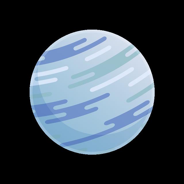 行星星球手绘图标