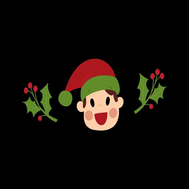 圣诞节卡通装饰图案