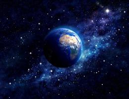 蓝色流浪地球科技背景