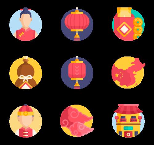 中国新年主题图标