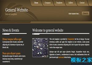 general双列固定宽度多个分区框web模板
