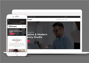 响应式商业数字机构公司网站模板